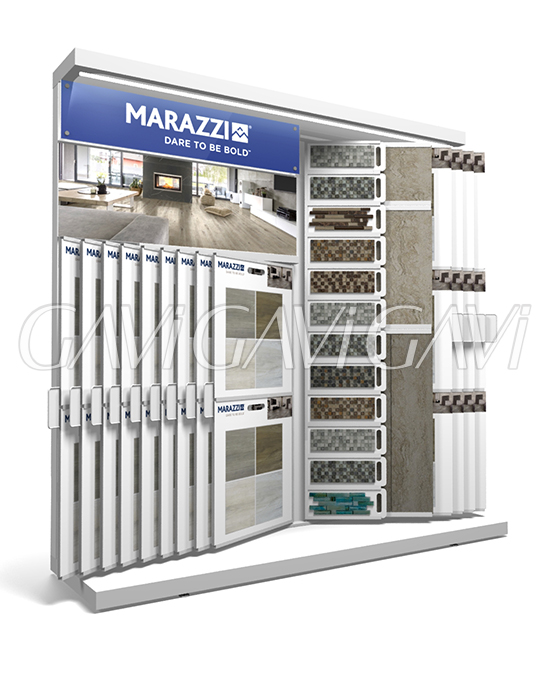 feature wing tile display marazzi gavi