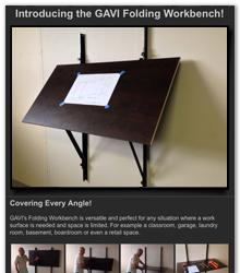 GAVI Folding Workbench